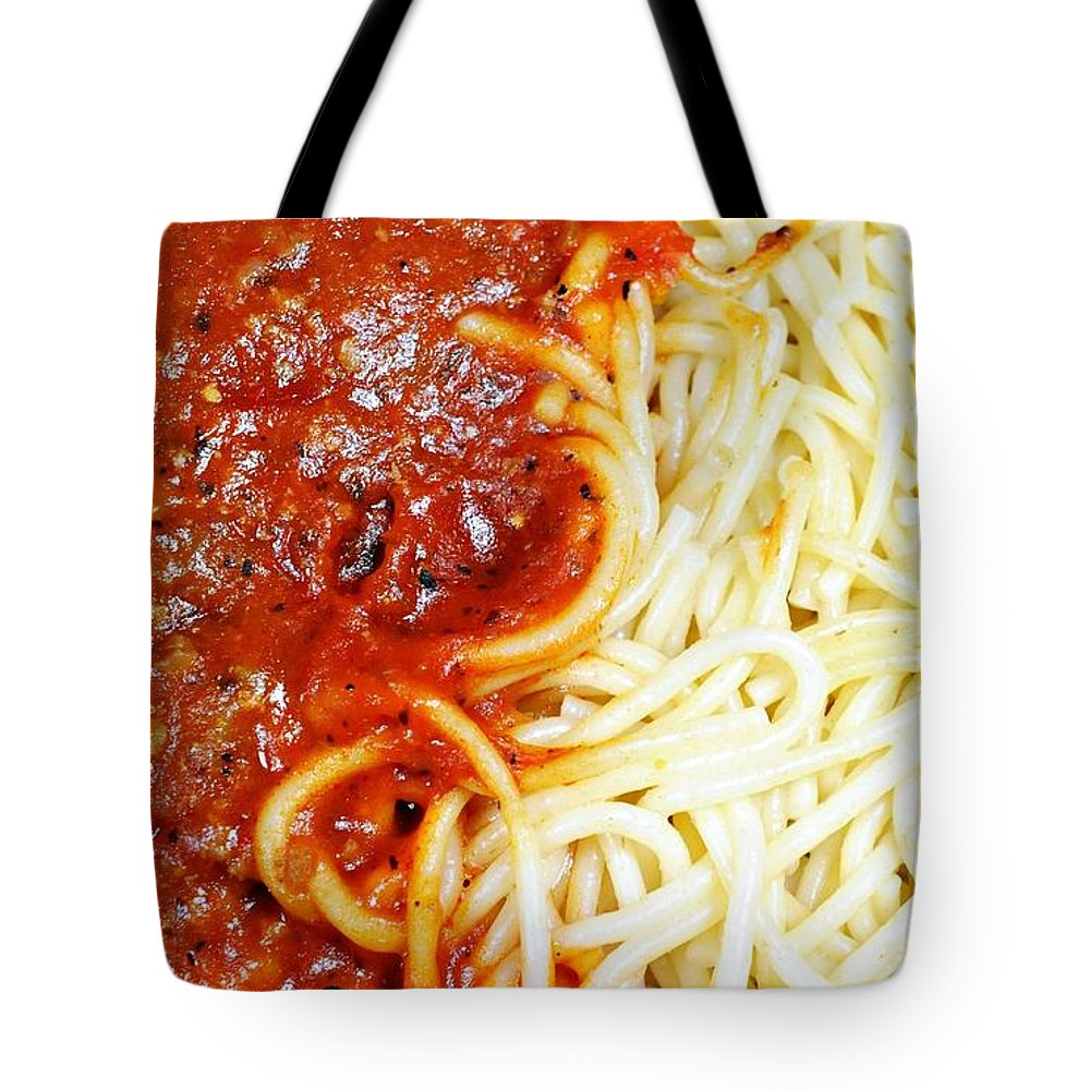Meal Tote Bag featuring the photograph Spaghetti by Diana Angstadt