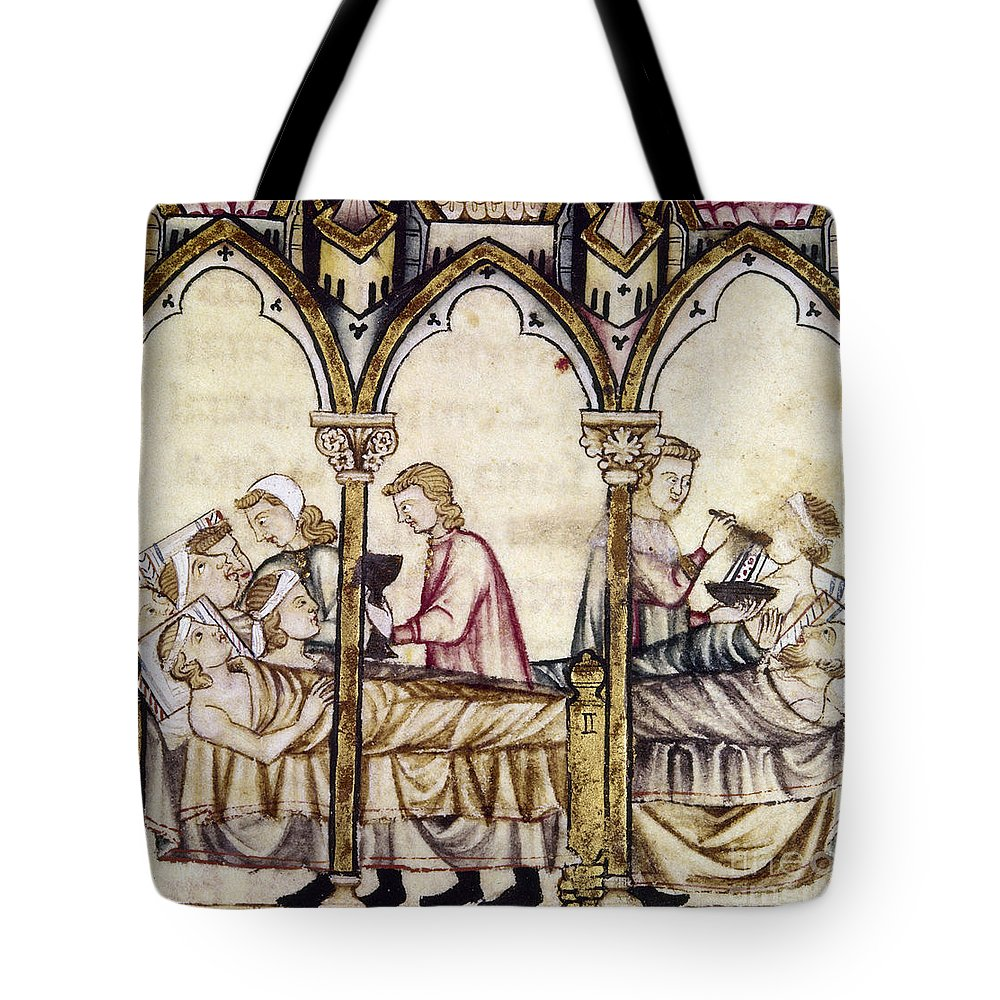 13th Century Tote Bag featuring the photograph Spain: Medieval Hospital by Granger