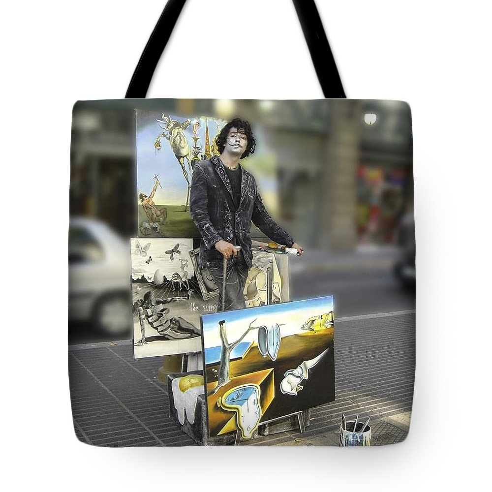 Spain Tote Bag featuring the photograph Painter In Spain Series 23 by Carlos Diaz