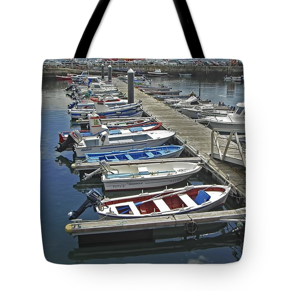 Boat Tote Bag featuring the photograph Row Boats In Spain Series 27 by Carlos Diaz