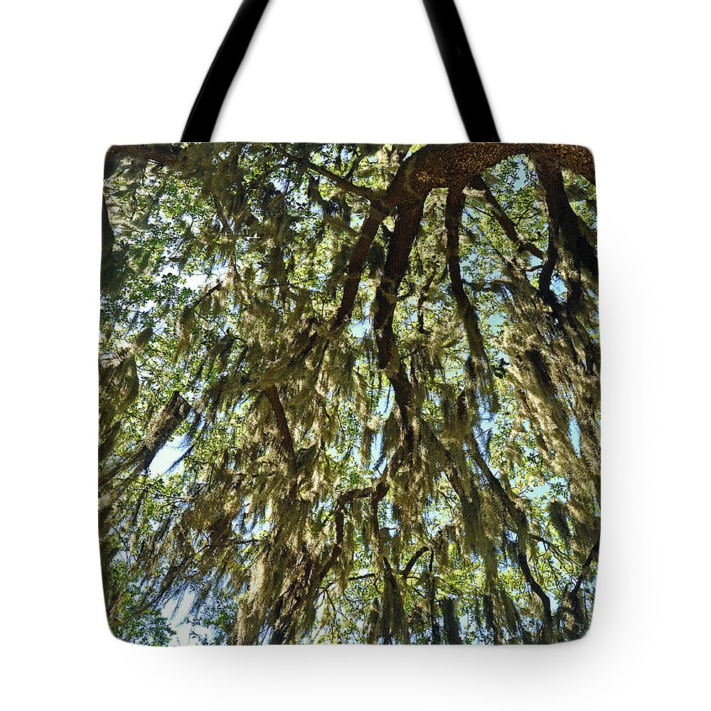 Landscapes Tote Bag featuring the photograph Spanish Moss by Deborah Good