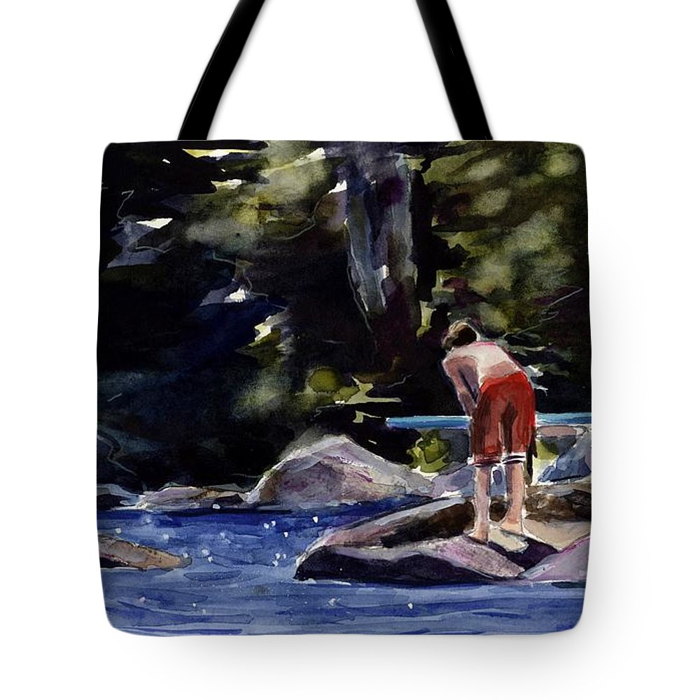 Lake Tote Bag featuring the painting Sparkle Lake by Molly Poole