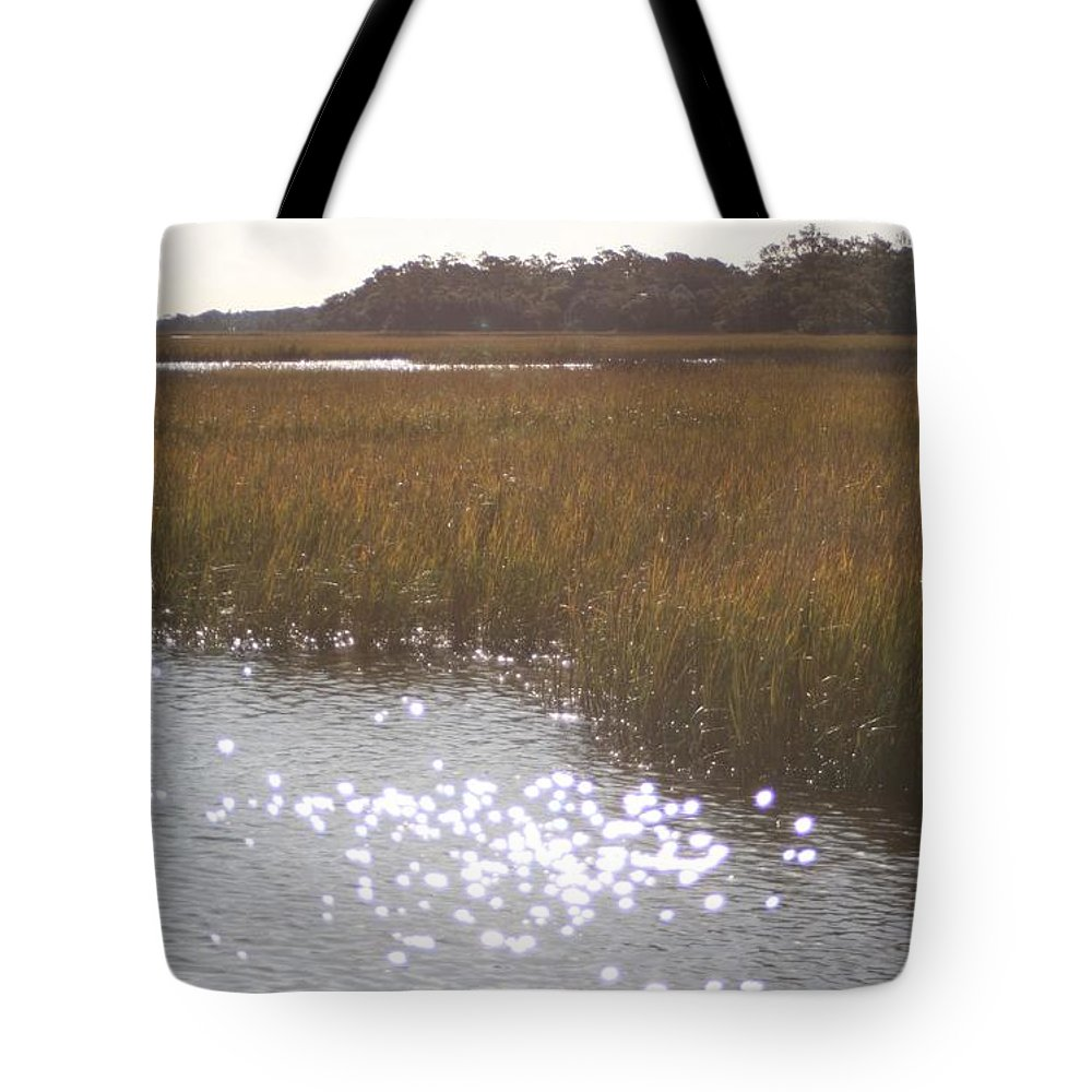 Marsh Tote Bag featuring the photograph Sparkling Marsh by Nadine Rippelmeyer