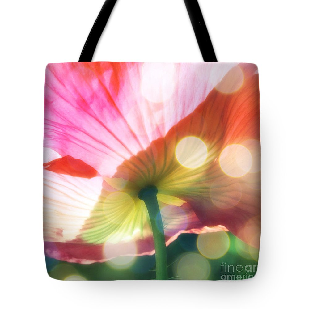 Poppy Tote Bag featuring the photograph Sparkling Poppy by Carol Groenen