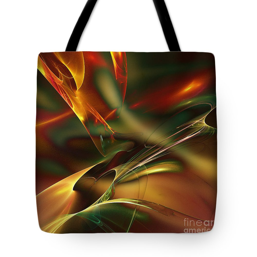 Waves Tote Bag featuring the digital art Spatially And Temporally by Klara Acel
