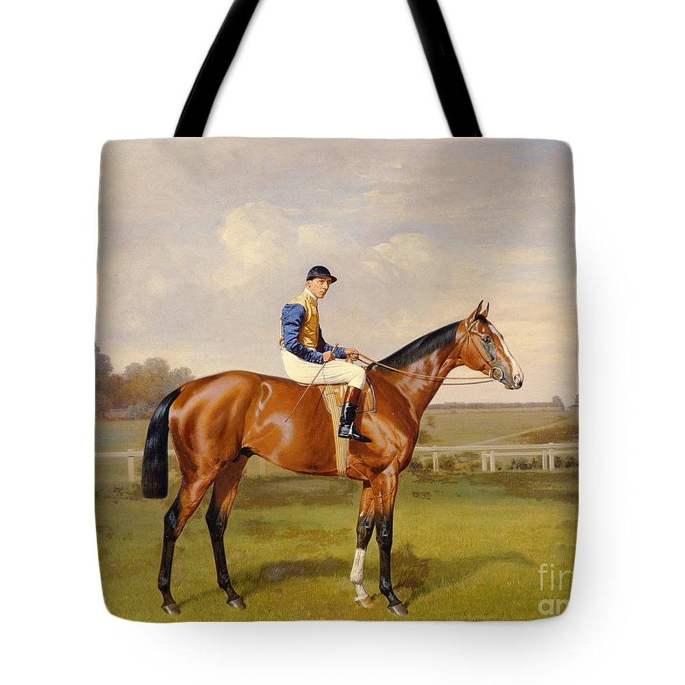 Horse Tote Bag featuring the painting Spearmint Winner Of The 1906 Derby by Emil Adam