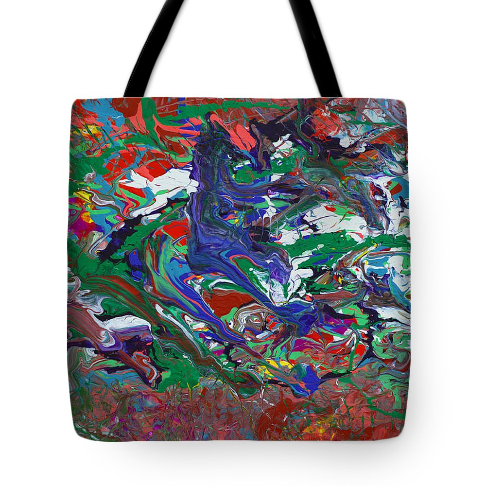 Bold Abstract Tote Bag featuring the painting Speed Demon by Donna Blackhall