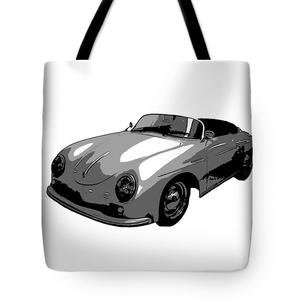 Speedster Porsche Automobile Vintage Pop Art German Luxury Racecar Car Auto James Dean Moto Motor Boy Men Garage Fast Tote Bag featuring the photograph Speedster by J Anthony