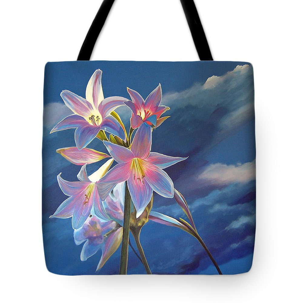 Botanical Tote Bag featuring the painting Spellbound by Hunter Jay