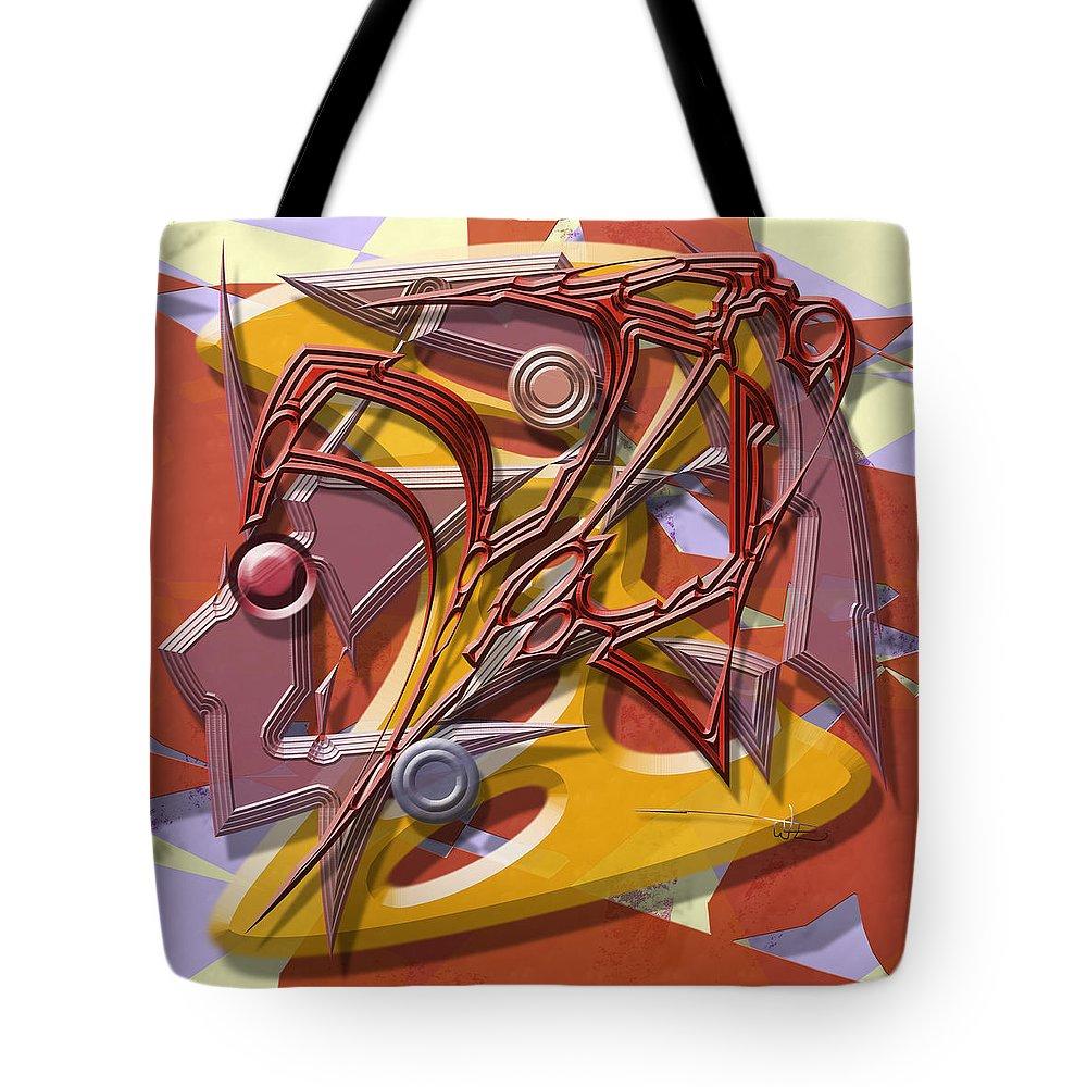 Warrenswork Tote Bag featuring the digital art Spelunkers by Warren Lynn