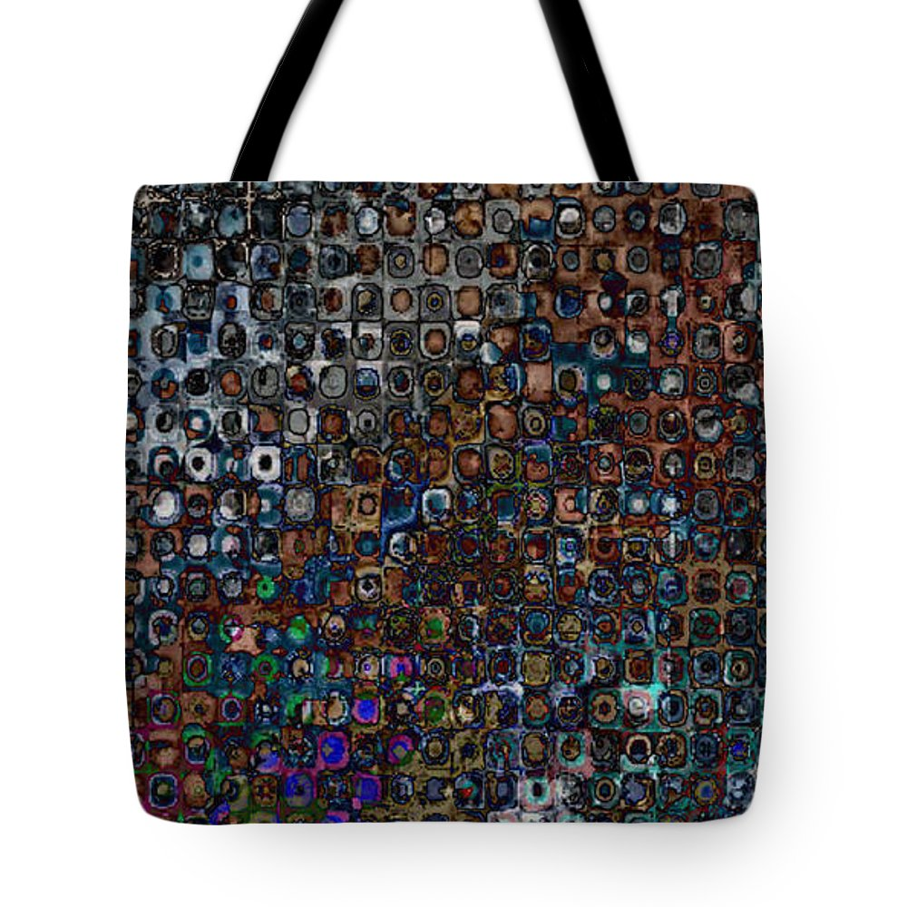 Abstract Tote Bag featuring the digital art Spex Affirm Abstract Art by Mary Clanahan
