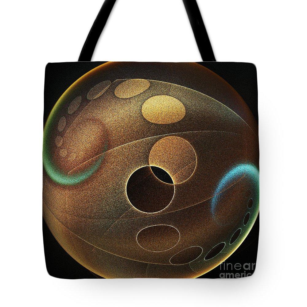 Sphere Tote Bag featuring the digital art Sphere by Klara Acel