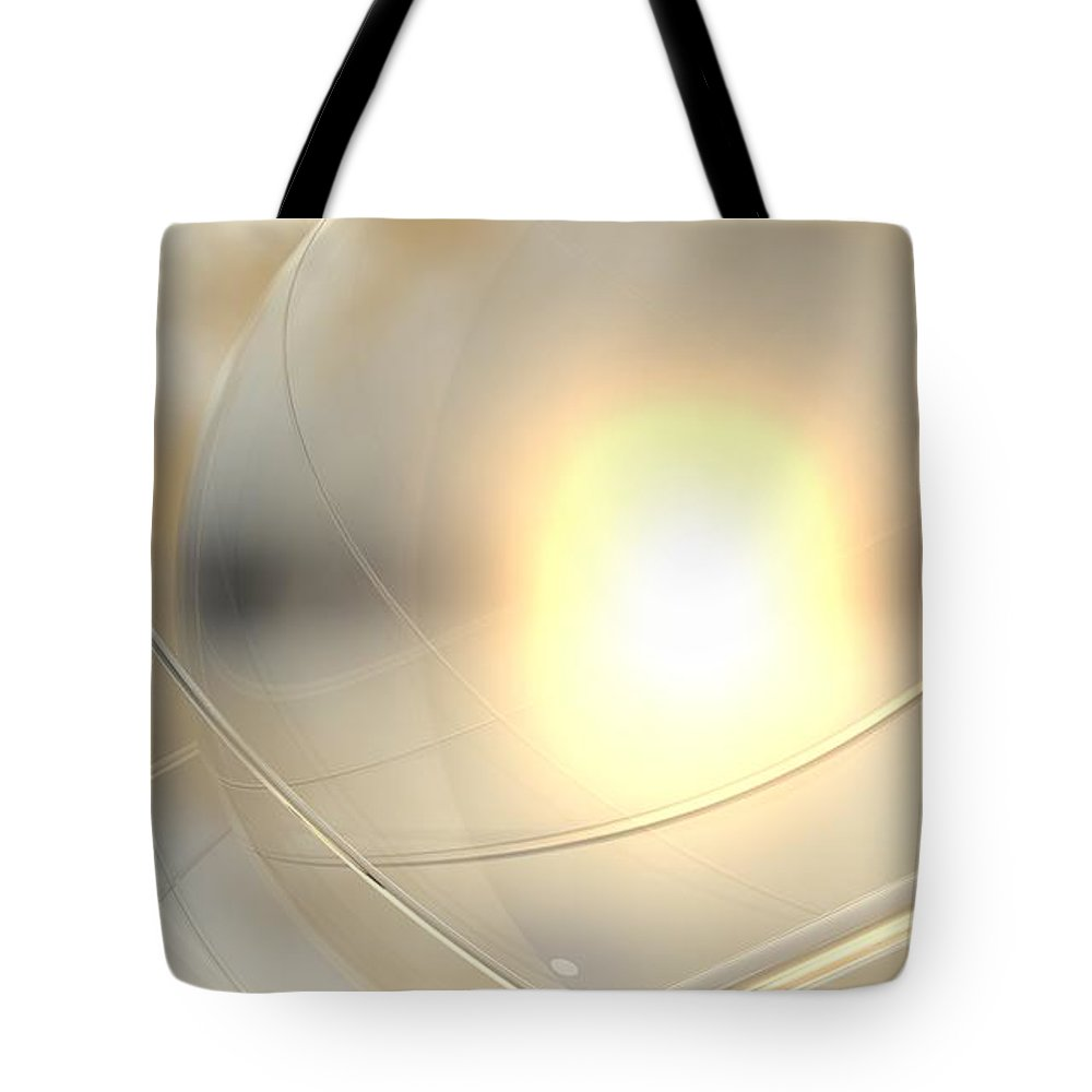 Abstract Tote Bag featuring the digital art Spheres, No. 6 by James Kramer