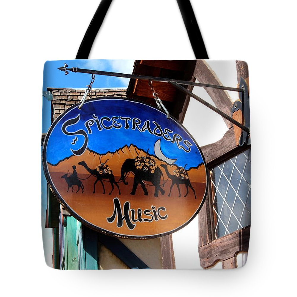 Spicetraders Music Tote Bag featuring the photograph Spicetrader Music by Natalie Ortiz