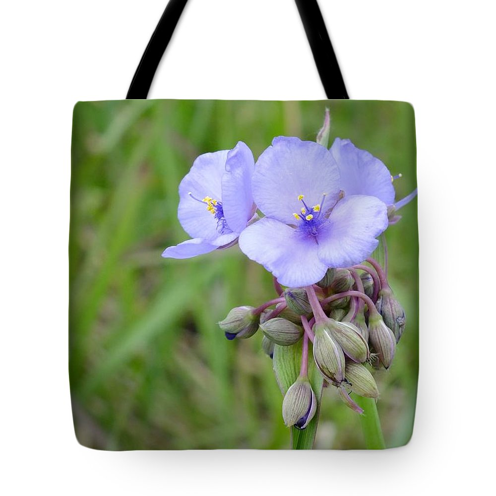 Nature Tote Bag featuring the photograph Spiderwort by Peggy King