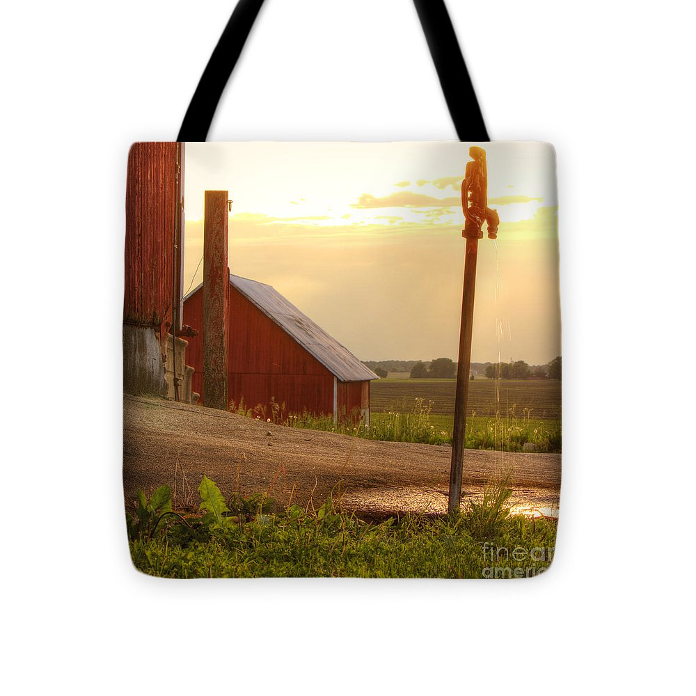 Barn Tote Bag featuring the photograph Spigot by Kent Taylor
