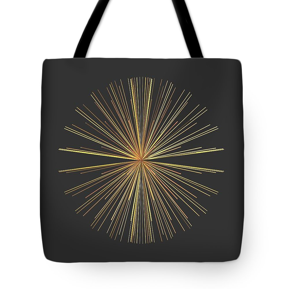 Abstract Tote Bag featuring the digital art Spikes... by Tim Fillingim