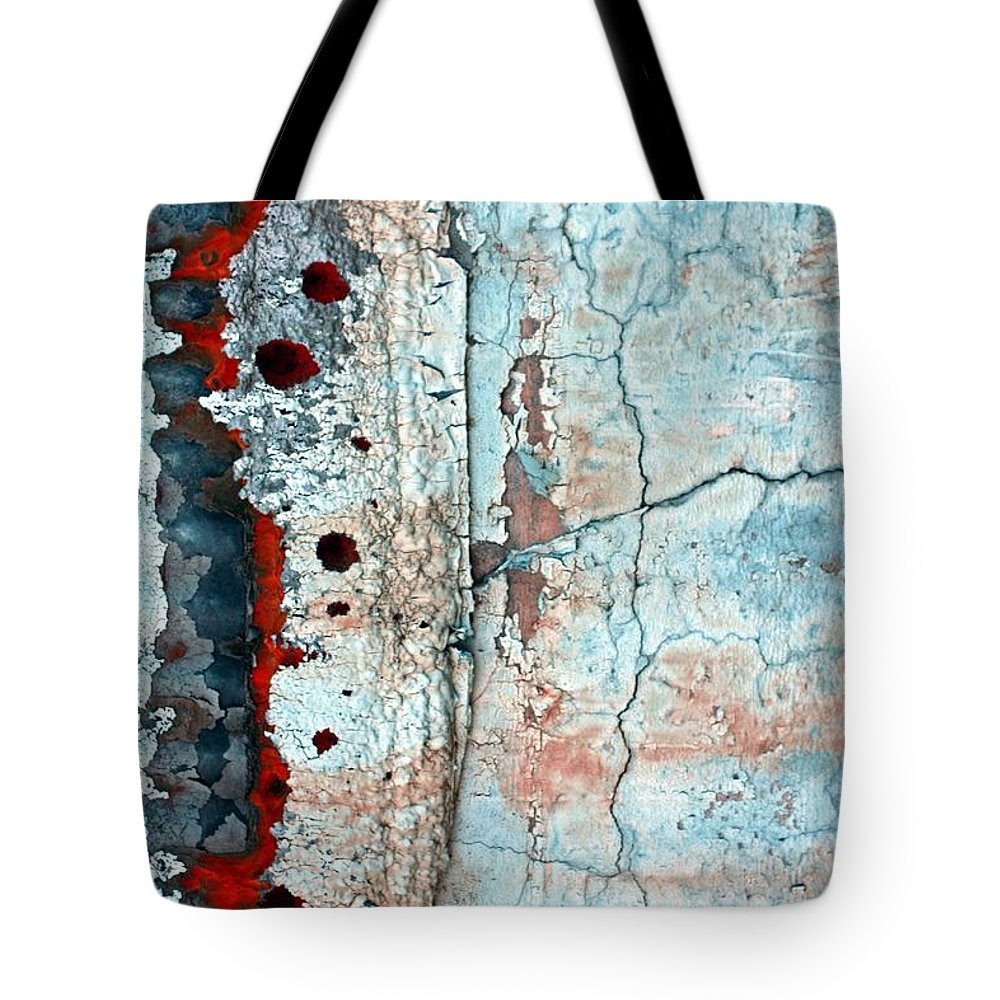 Abstract Tote Bag featuring the photograph Spinal Tap by Marcia Lee Jones