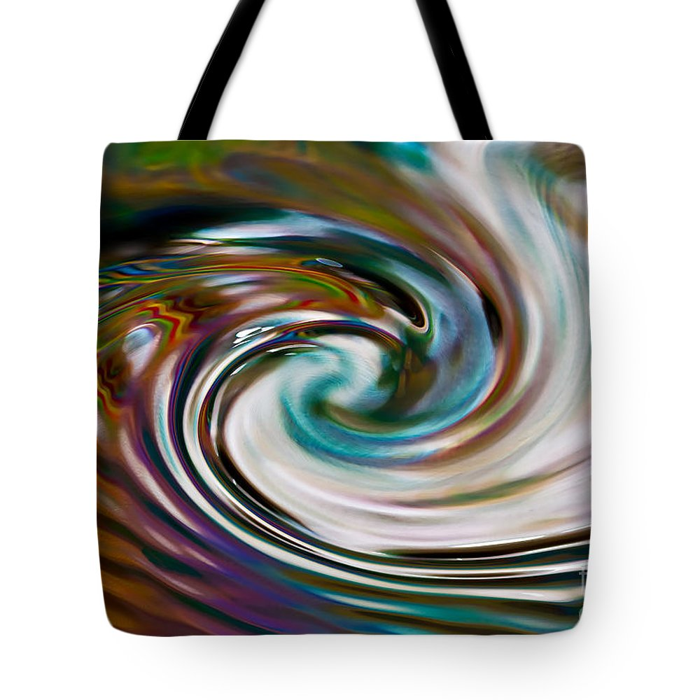 Abstract Tote Bag featuring the photograph Spiral Architect by Anthony Sacco