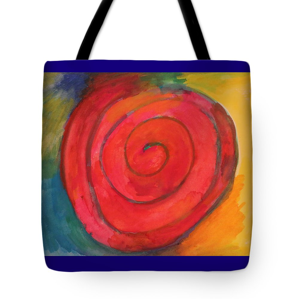Spiral Tote Bag featuring the painting Spiral Of Life by Shakti Chionis