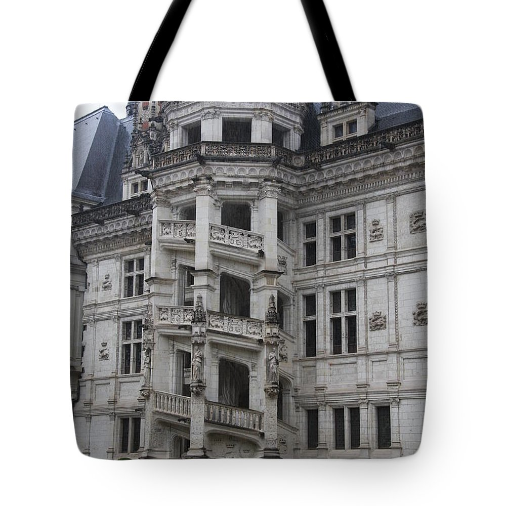 Stairs Tote Bag featuring the photograph Spiral Staircase Chateau Blois by Christiane Schulze Art And Photography