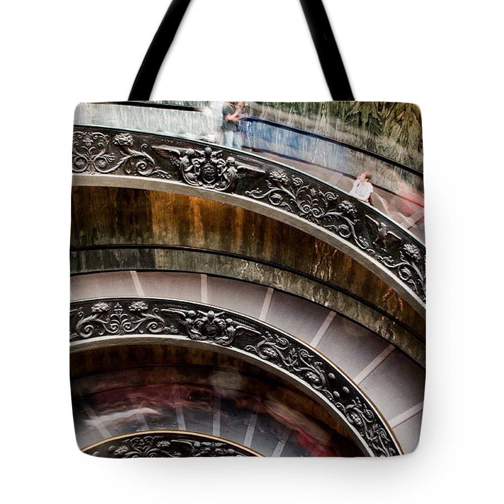Spiral Staircase Tote Bag featuring the photograph Spiral Staircase No4 by Weston Westmoreland