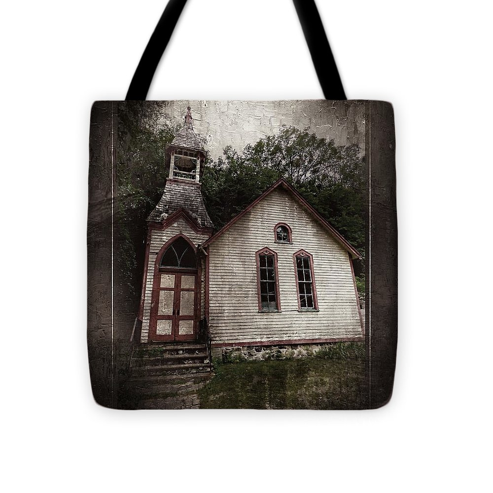 Marcia Lee Jones Tote Bag featuring the photograph Spirit Has Left The Building by Marcia Lee Jones
