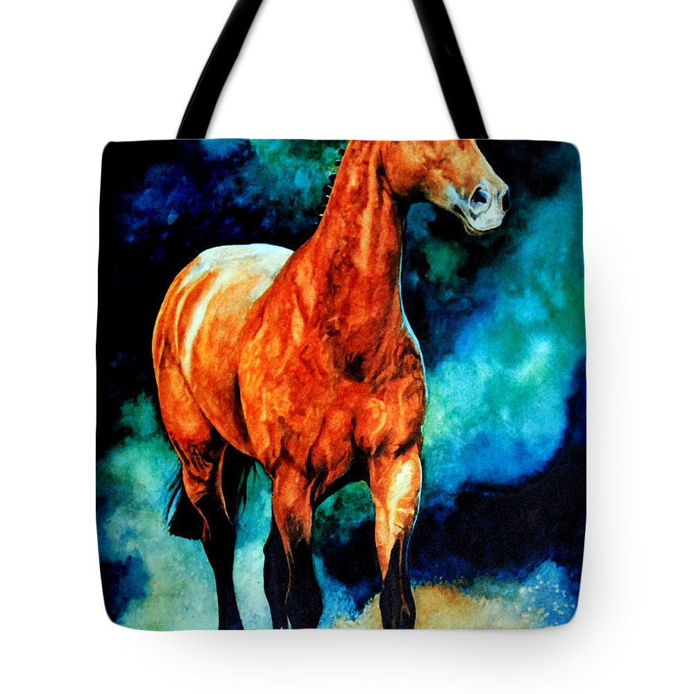 Horse Paintings Tote Bag featuring the painting Spirit Horse by Hanne Lore Koehler