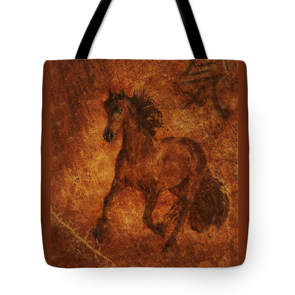 Chinese Horse Art Tote Bag featuring the photograph Spirit by Melinda Hughes-Berland