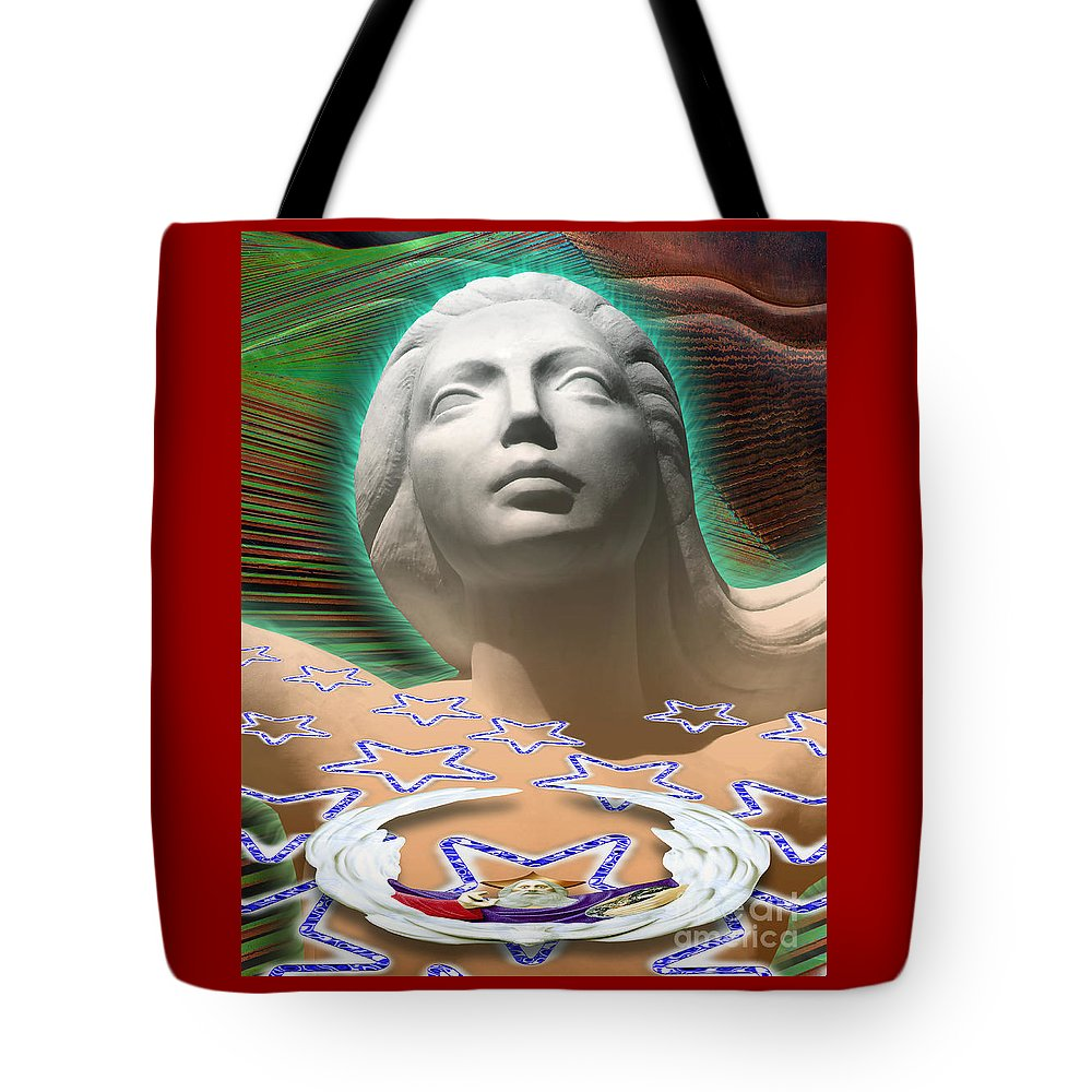 Mother Tote Bag featuring the digital art Spirit Mother by Keith Dillon