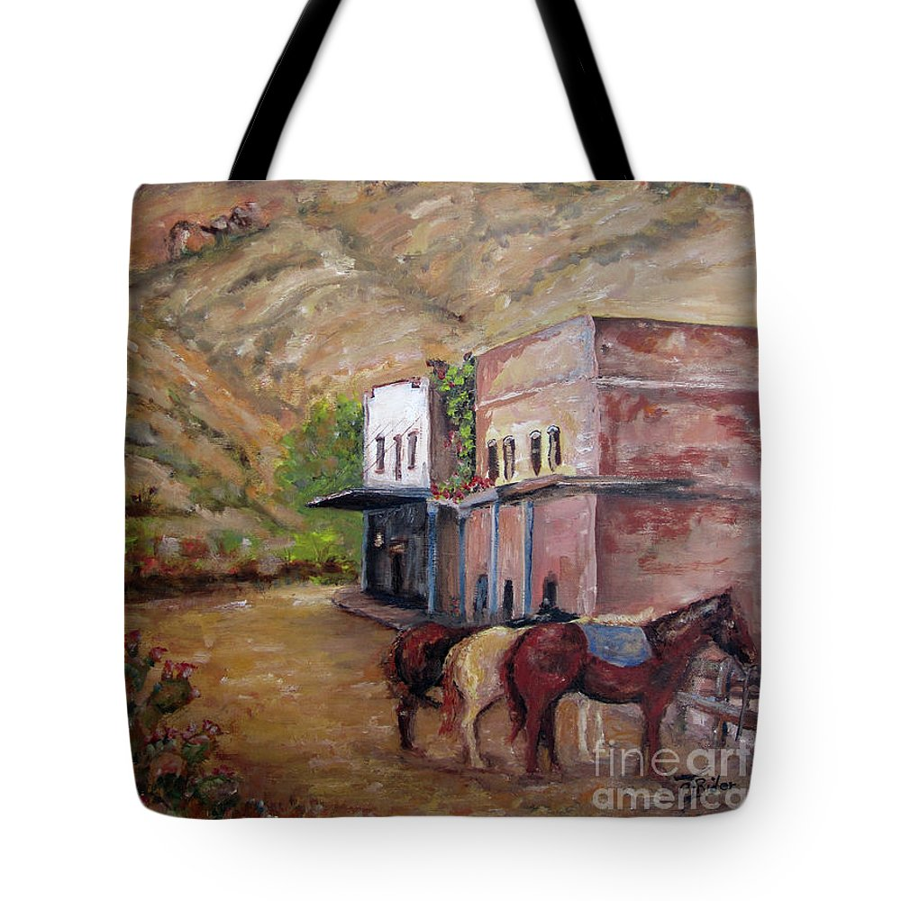 Superior Tote Bag featuring the painting Spirit Of Superior by CJ Rider