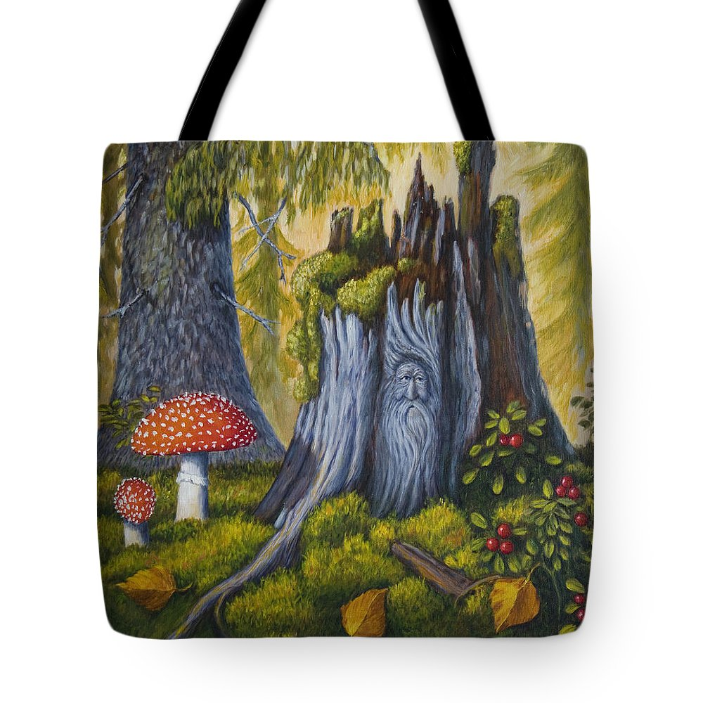 Art Tote Bag featuring the painting Spirit Of The Forest by Veikko Suikkanen