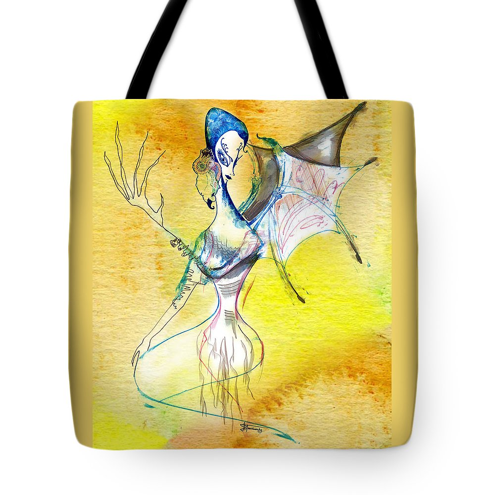 Spiritual Tote Bag featuring the painting Spirit Of Trees by Ilana Tavshunsky