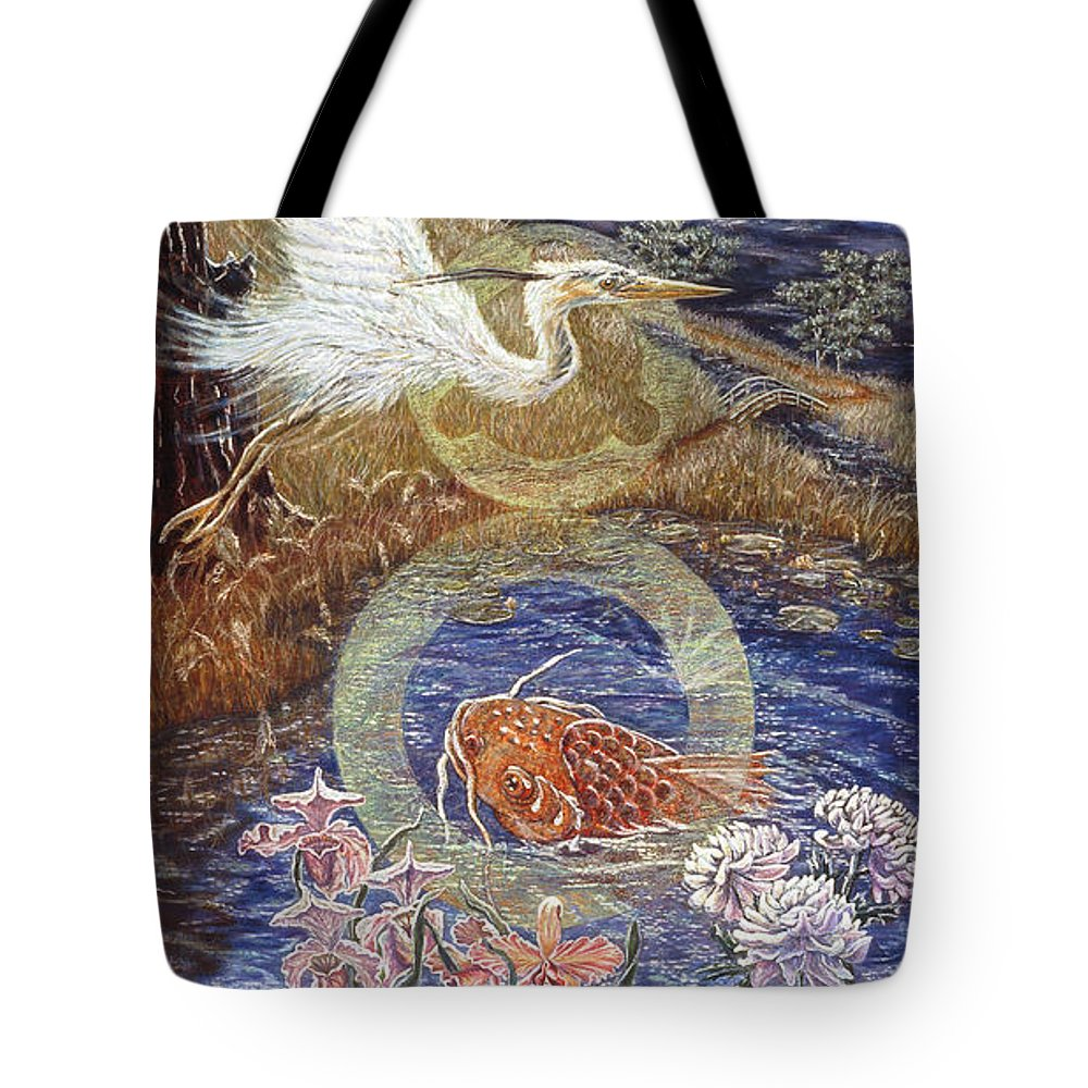 Interior Design Decor Tote Bag featuring the painting Spirit Rising by Gail Allen