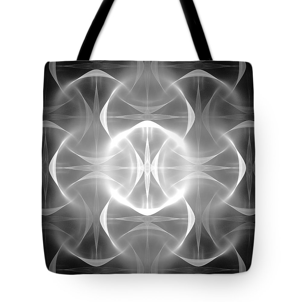 Spiritual Tote Bag featuring the digital art Spiritual Glow by Robert Mawby