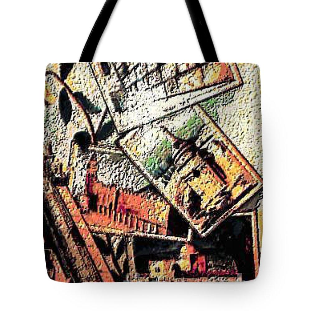 Hollilandimage Tote Bag featuring the digital art Spirtuality II by Yael VanGruber