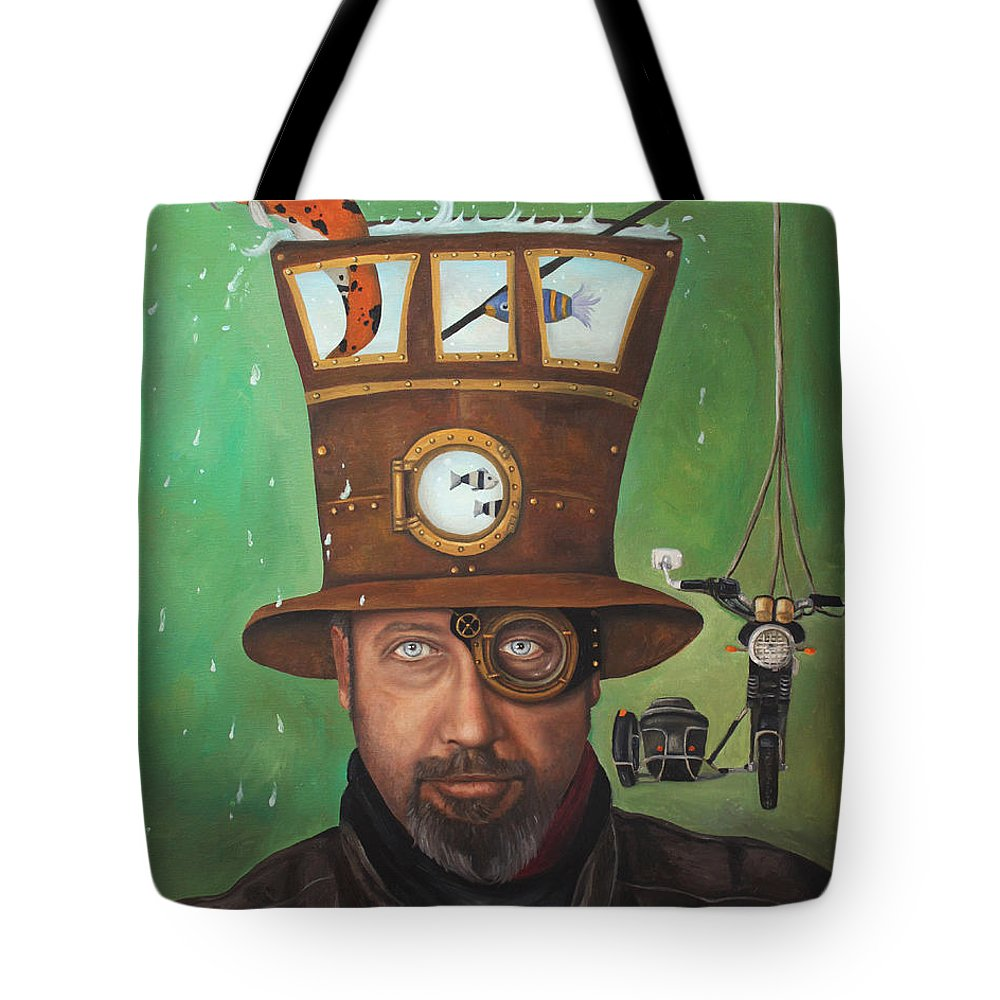 Splash Tote Bag featuring the painting Splash Edit 2 by Leah Saulnier The Painting Maniac