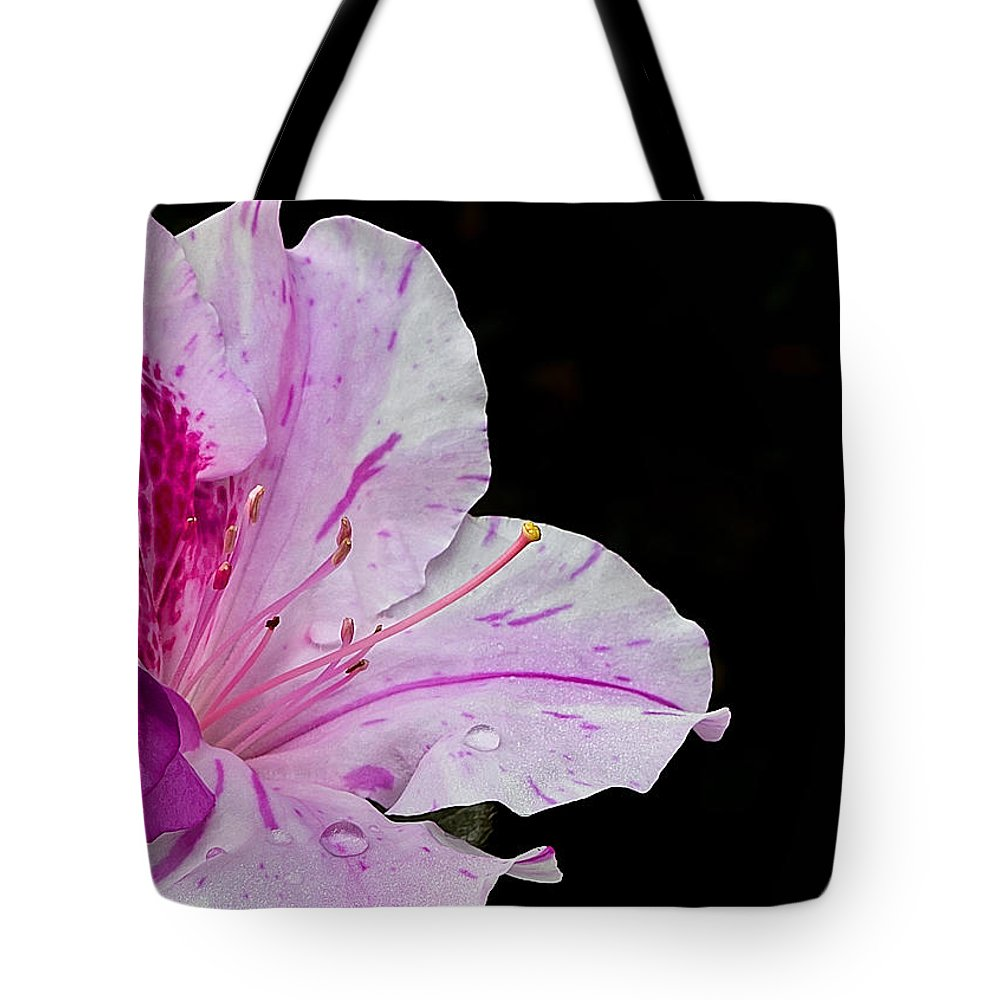 Flower Tote Bag featuring the photograph Splash Of Color by Mark McKinney