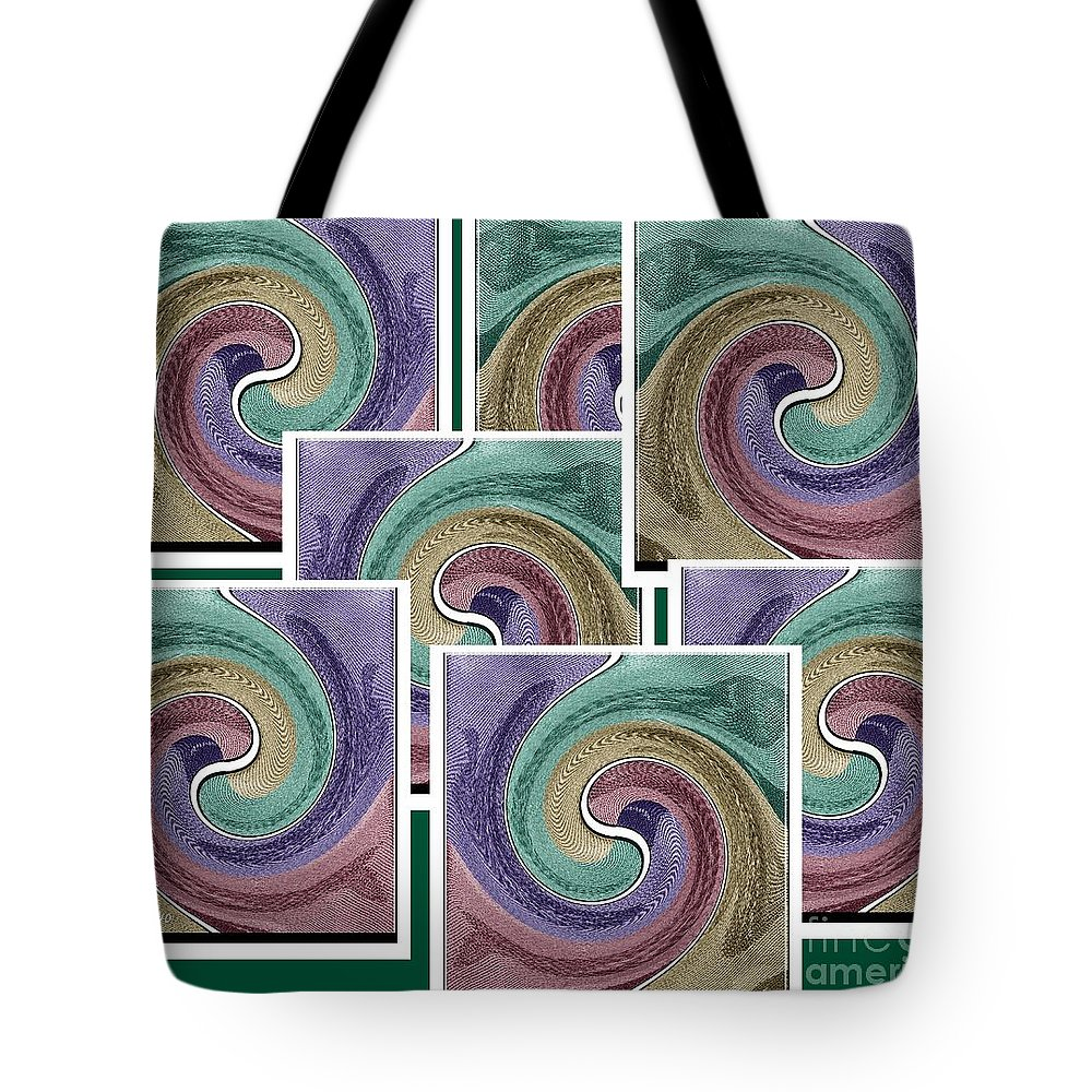 Abstract Tote Bag featuring the mixed media Splash Of Colors by Ann Calvo