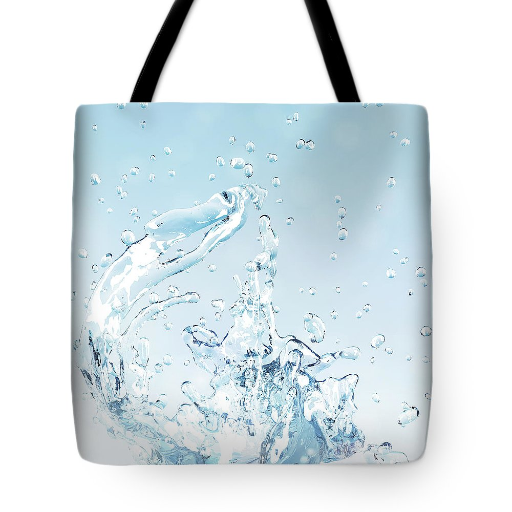Motion Tote Bag featuring the digital art Splash Of Water by Maciej Frolow
