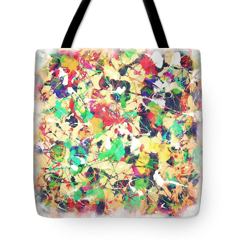Art Tote Bag featuring the digital art Splashing Paints by Phil Perkins