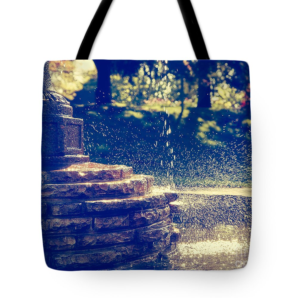 Water Tote Bag featuring the photograph Splish Splash by Mary Smyth