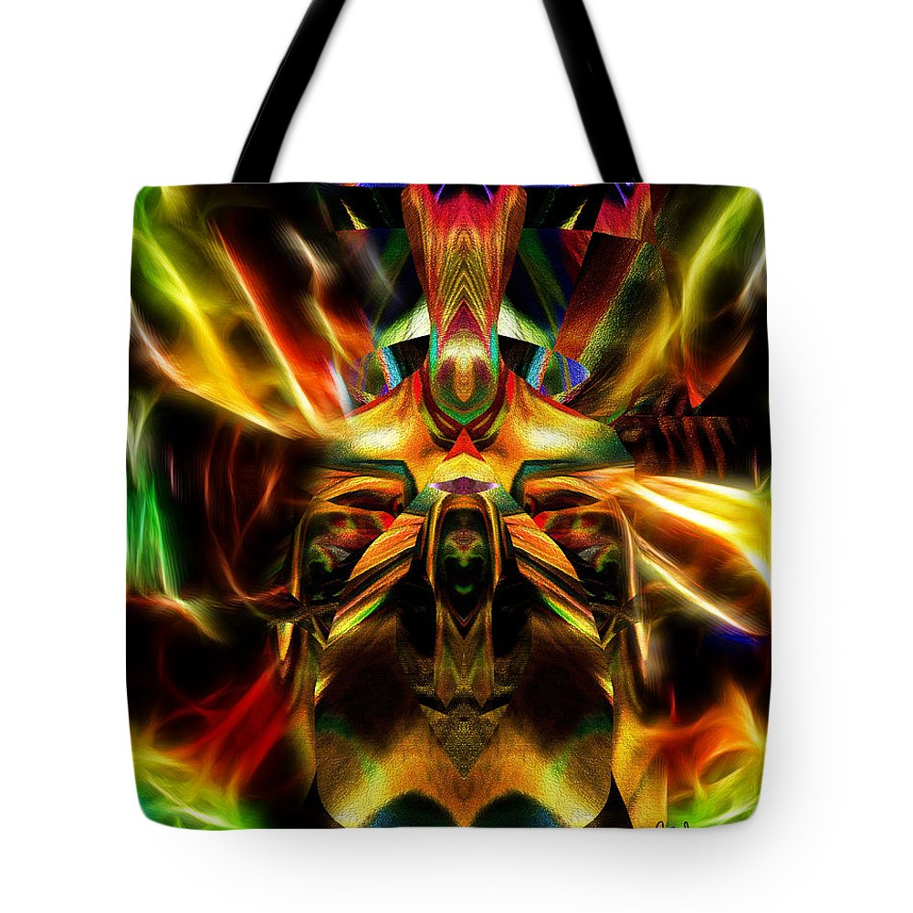 Colorful Tote Bag featuring the digital art Spontaneous by Mike Butler