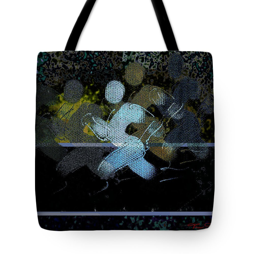 Theo Danella Tote Bag featuring the digital art Sport B 10 by Theo Danella