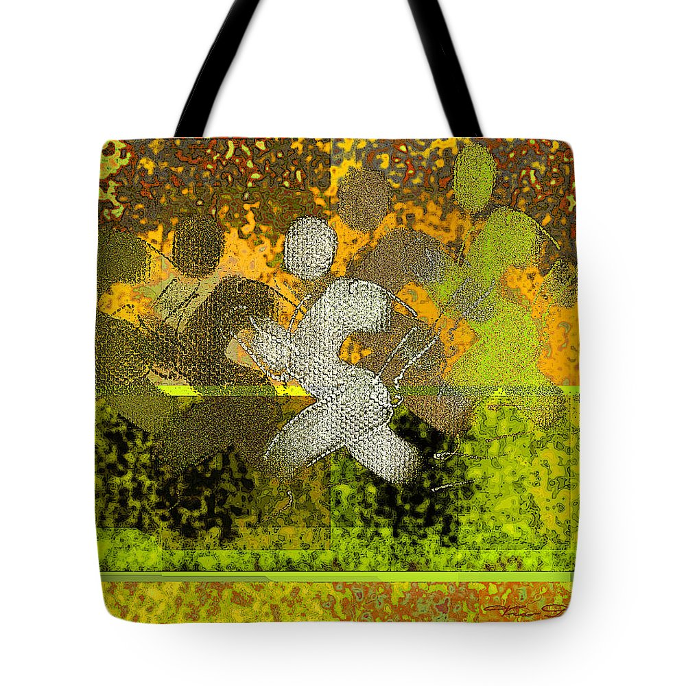 Theo Danella Tote Bag featuring the digital art Sport B 5 B by Theo Danella