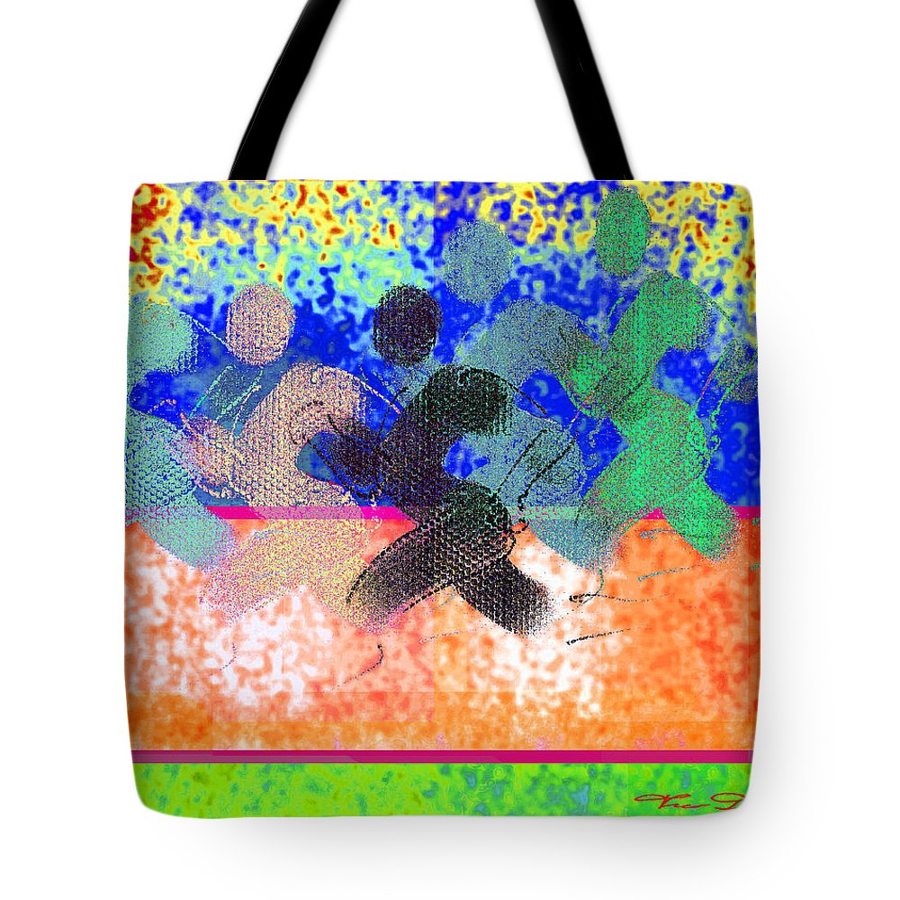 Theo Danella Tote Bag featuring the digital art Sport B 9 C by Theo Danella