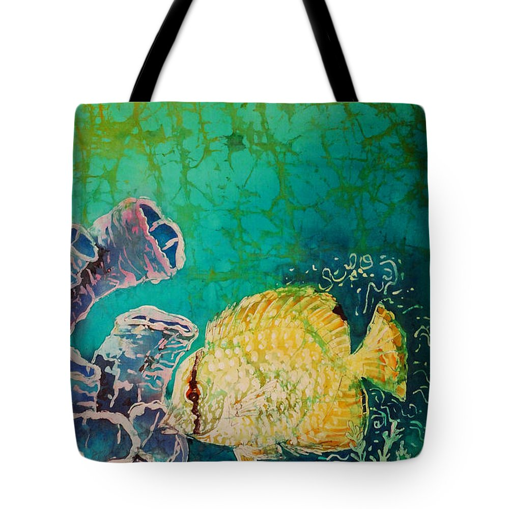 Fish Tote Bag featuring the painting Spotfin Butterflyfish by Sue Duda