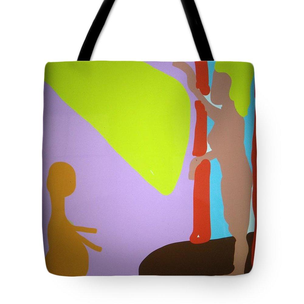 Man Tote Bag featuring the digital art Spotlight by Erika Chamberlin