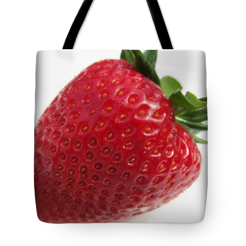 Strawberry Tote Bag featuring the photograph Spring 2013 Strawberry by Tina M Wenger