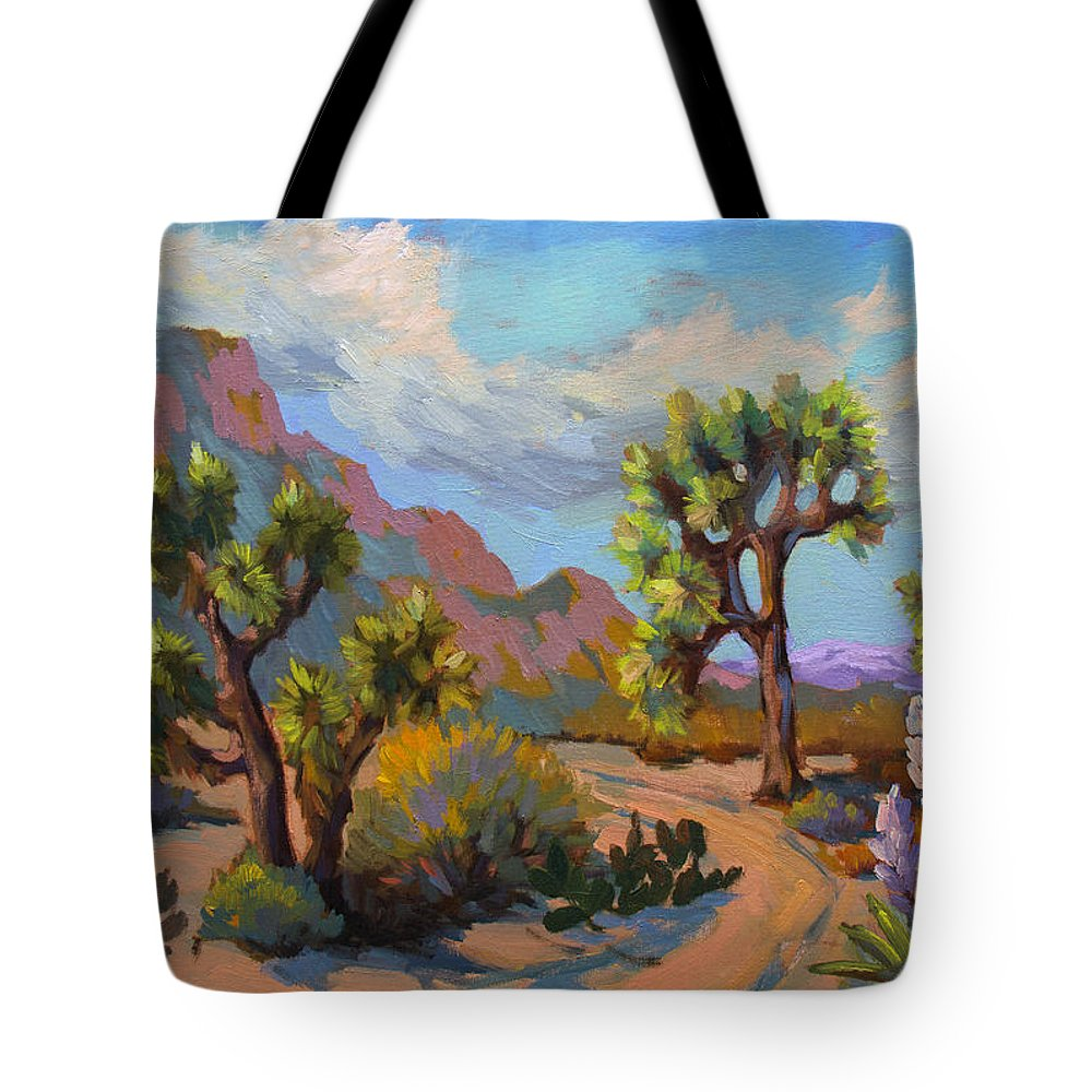 Spring Tote Bag featuring the painting Spring At Joshua by Diane McClary